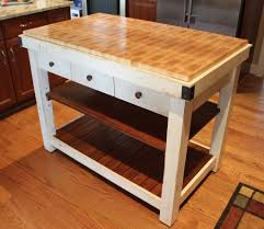 kitchen unique design cart butcher block island also white