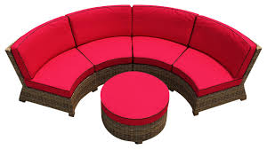 forever patio cypress 3 piece curved patio sectional set