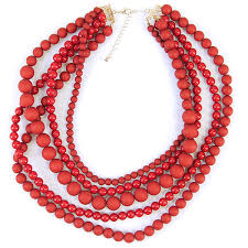 red big necklace images Necklace 187a 33 lucky you multi bead layer necklace red swtrading png