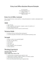 resume objective for students exles of a response job resume template for high student entry level accounting