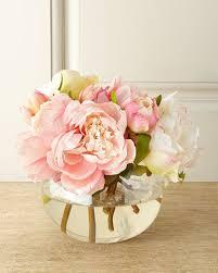 faux floral arrangements at neiman
