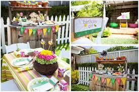 little girls u0027 gardening birthday party pizzazzerie