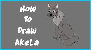 draw akela jungle book disney character