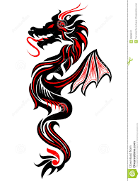 tribal dragon tattoo stock vector image of decorative 59606612