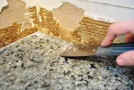 how to caulk a sink backsplash removing granite countertop backsplash scraping caulk contemporary