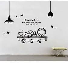mur designs wall ustensiles de cuisine papillon lettre