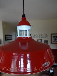 1950s ceiling light fixtures red industrial pendant ties in with 1950s diner style table barn