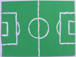 football pitch mouse mat craft for kids