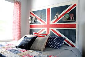 union jack pegboard headboard children u0027s room decor