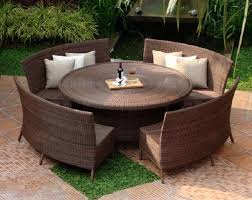 outdoor sitting circular outdoor seating awesome round outdoor dining table awesome
