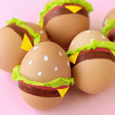 painted easter eggs paint your easter eggs to look like hamburgers this year food wine