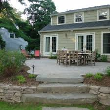 Raised Patio Pavers Paver Patio Cost And Concrete Patio Ideas With Outdoor Dining