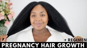 pregnancy hair growth routine update natural hair youtube