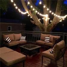 Patio Lighting Options Zitrades Patio Lights G40 Globe String Decorative Throughout