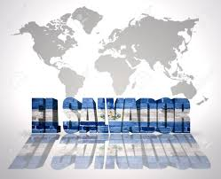 El Salvador On World Map by Word El Salvador With Salvador Flag On A World Map Background