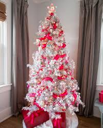 white christmas trees decorated blue ngorong club flowering