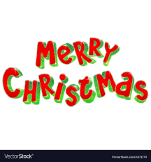 merry christmas sign lettering 3d merry christmas sign royalty free vector