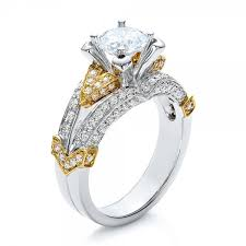 two tone gold engagement rings two tone gold and engagement ring vanna k 100273