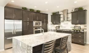kitchen island with granite granite waterfall kitchen island pin from jayman home ideas