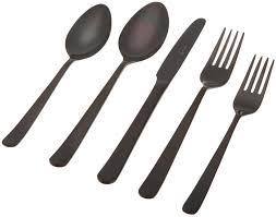 black friday stainless dinnerware amazon black flatware set black gold flatware sets seekfancycom black