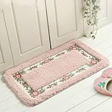 Floral Bathroom Rugs Amazon Com Sytian Decorative Super Soft Floral Design Rural
