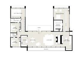 Home Plans With Courtyard Enchanting U Shaped House Floor Plans With Courtyard Photo Design