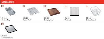 franke sink accessories chopping board franke kubus kbx 110 45 stainless steel kitchen sink 480mm x 430mm