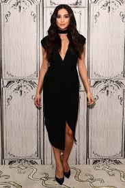 black necklace dress images Dress slit dress choker necklace shay mitchell pumps black jpg