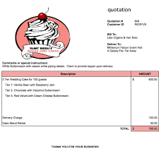wedding cake quotation template 30 images of bakery receipt template tonibest