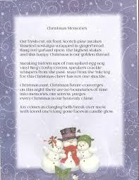 christmas memories an original signed christmas poem home
