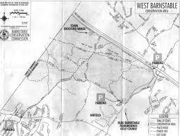 barnstable hills sketch map long walks on cape cod
