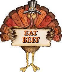 thanksgiving eat beef joke things that zing