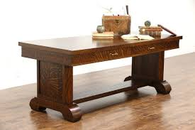 Oak Meeting Table Sold Oak Quarter Sawn 1915 Antique Library Dining Or Conference