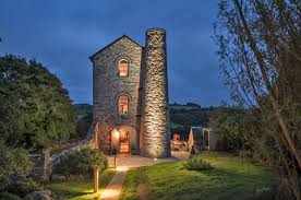 19th century engine house becomes rough luxe retreat in cornwall