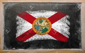 Florida Flag History Chalky American State Of Florida Flag Painted With Color Chalk