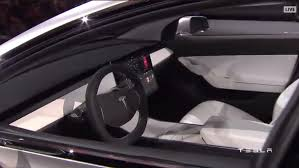 suv tesla inside tesla model 3 revealed elon musk shows off new 35 000 electric car