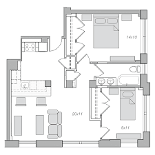 Modern 2 Bedroom Apartment Floor Plans Apartments 106 506 Embassy Tower
