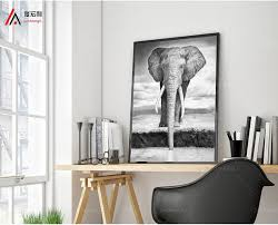 Elephant Decor For Home Hd Printed African Elephant Painting A Picture On A Canvas Frame1