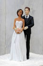 biracial wedding cake toppers taking a gamble las vegas wedding cake topper custom hair