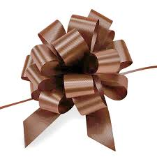 pull bows 5 inch large poly pull bows 50 count chocolate the lucky