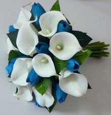 blue calla lily bridal bouquet calla lily wedding bouquet liliy