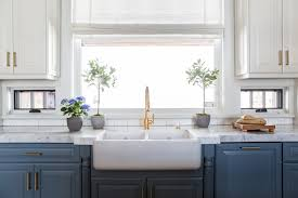 Antique Brass Display Cabinet Window Between Upper Cabinets And Lower Cabinets Transitional