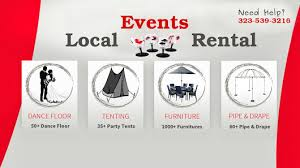 local party rentals local events rental party supplies la