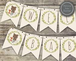 woodland baby shower ideas woodland baby shower banner welcome baby banner printable