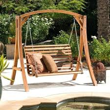 Patio Swing Frame by Wooden Porch Swing Stand Plans Porch Swing With Stand Home Depot