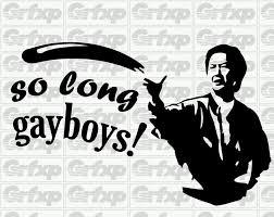 Mr Chow Gay Meme - so long gayboys sticker grafixpressions