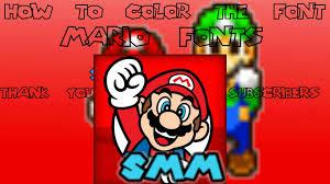 smm tutorial color mario fonts