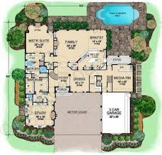 uffizi place luxury home blueprints courtyard house plan first floor plan