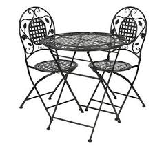 Wrought Iron Bistro Chairs 3 Piece Wrought Iron Bistro Set By Valerie Page 1 U2014 Qvc Com