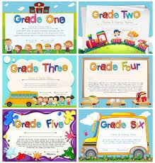 diplomas de primaria descargar diplomas de primaria plantillas del diploma para la escuela primaria ilustración del